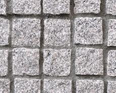 舗装用天然石材「トラッドストーン」小舗石中国産白
