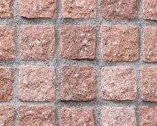 舗装用天然石材「トラッドストーン」小舗石中国産レッド