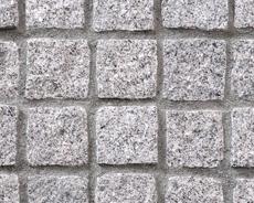 舗装用天然石材「トラッドストーン」小舗石ベトナム産白