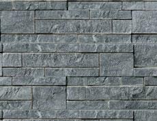 外装用天然石材パネル「コブルストーン・スタック」コブルブラック