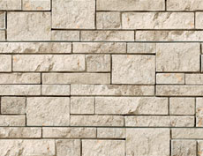 外装用天然石材パネル「コブルストーン・スタック」コブルクリーム