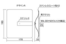 フォーミュラーサイン寸法図