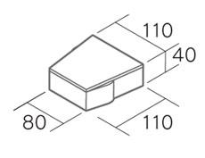 舗装用コンクリートブロック「ヌアール」形状図