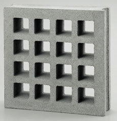 組積用コンクリートブロックオプション「スケルキューブ400」グリッド