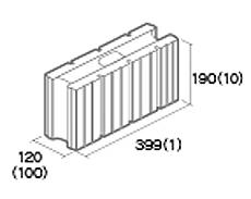 組積用コンクリートブロック「エルツ」基本横筋兼用型