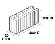 組積用コンクリートブロック「エルツ」コーナー型