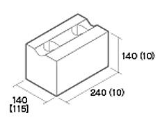 組積用コンクリートブロック「ルアートエッジ」基本横筋兼用型