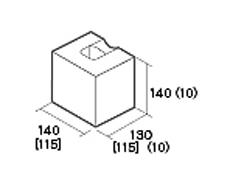 組積用コンクリートブロック「ルアートエッジ」1/2コーナー型