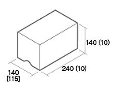 組積用コンクリートブロック「ルアートエッジ」天端基本型