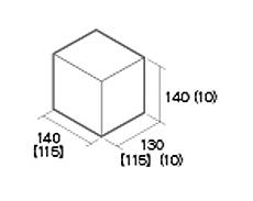 組積用コンクリートブロック「ルアートエッジ」1/2天端コーナー型