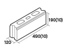組積用コンクリートブロック「オオヤ ファイブ」基本型