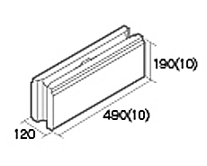 組積用コンクリートブロック「オオヤ ファイブ」横筋型