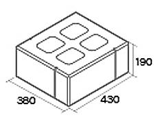 組積用コンクリートブロック「オオヤ ファイブ」角門柱