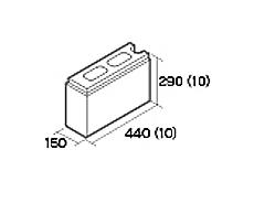 組積用コンクリートブロック「オオヤ ナイン」1/2コーナー型