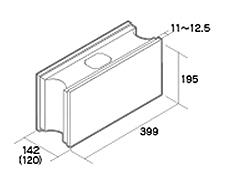 組積用コンクリートブロック「MAXAZ セラフィス メタルタイプ」基本横筋兼用型