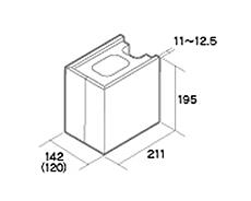 組積用コンクリートブロック「MAXAZ セラフィス メタルタイプ」1/2コーナー型