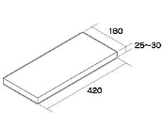 組積用コンクリートブロック「MAXAZ セラフィス メタルタイプ」コーナー笠木18
