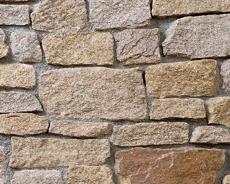外装用天然石材パネル「クォーツストーン・ウォール」クォーツイエロー