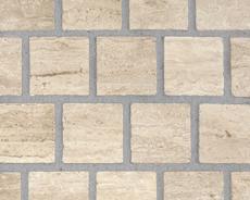 舗装用天然石材「ガラパゴスストーン」キューブ/ホワイト