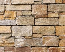 外装用天然石材パネル「インテグストーン・スタック」インテグブラウン