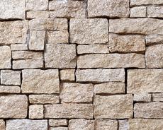 外装用天然石材パネル「インテグストーン・スタック」インテグイエロー