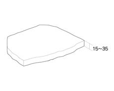 舗装用天然石材「バレンシアストーン」形状図
