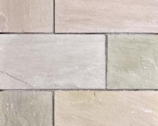 舗装用天然石材「ヨーガストーン」ラフスクエア・サンドデザート