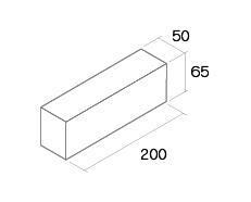 舗装用レンガ材「ティックル」形状図